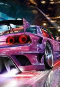 紫色靓车 320x480壁纸