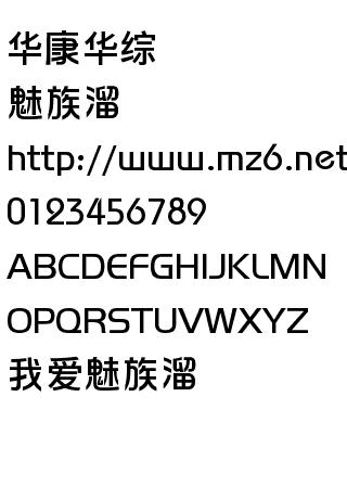 华康华综 字体