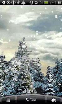 雪花飘落动态壁纸 v2.2