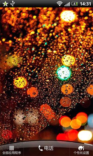 玻璃雨滴桌面背景